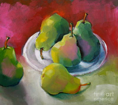 Painting - Pears by Michelle Abrams