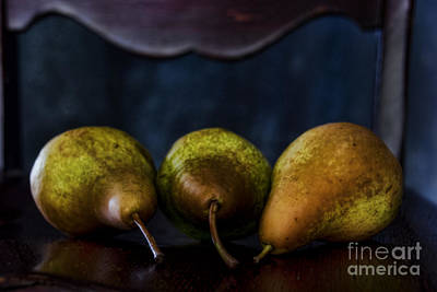 Pears On A Chair Art Print