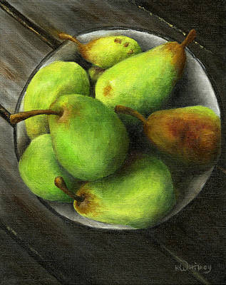 Pears On The Porch Original by Kristin Whitney