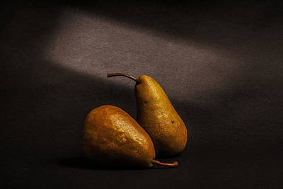 Painterly Photograph - Pears by Peter Tellone