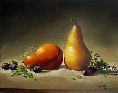 Painting - Pears Red And Gold by Kathryn Donatelli