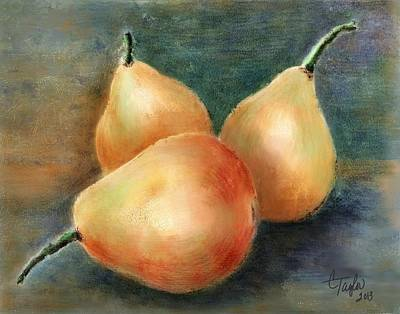 Pears Still Life Original by Colleen Taylor