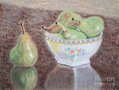 Painting - Pears Still Life by Yvonne Johnstone