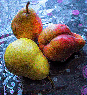 Photograph - Pears by Vladimir Kholostykh