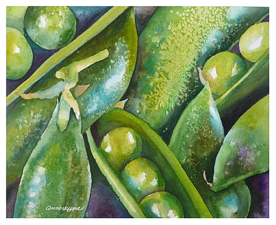 Painting - Peas In A Pod by Anne Gifford