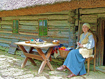 Peasant Felting In Rocca Al Mare Open Air Museum-estonia Print by Ruth Hager