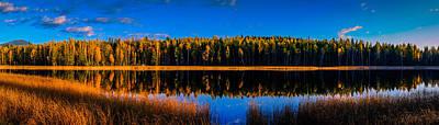 Print featuring the photograph Peavine Pond Panorama by Rob Tullis