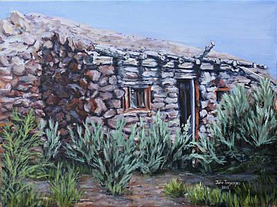 Unyielding Painting - Peavine Ruins by Julie Townsend