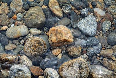 Photograph - Pebbles And Rocks by Michael Saunders