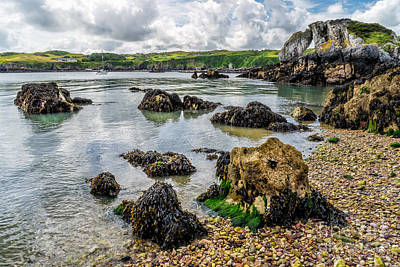 Coastline Digital Art - Pebble Bay by Adrian Evans
