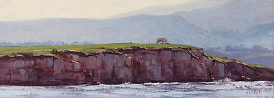 Pebble Beach Painting - Pebble Beach California by Graham Gercken