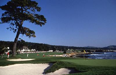 Pebble Beach Golf 18th Hole Art Print by Retro Images Archive