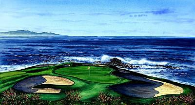 Yato Painting - Pebble Beach Golf Course by John YATO
