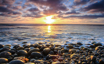 Art Print featuring the photograph Pebble Beach by Robert  Aycock