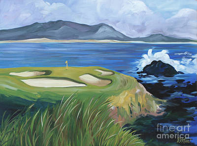 Painting - Pebble Beach Scene by Debbie Hart