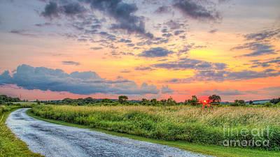 Pebble Creek Sunset Art Print