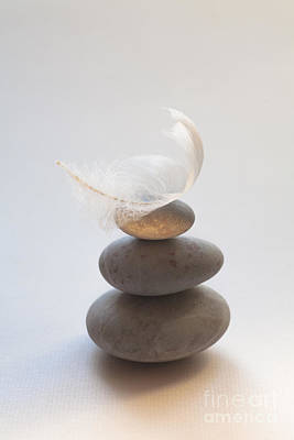 Balancing Photograph - Pebble Pile by Jan Bickerton