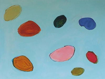 Airscape Painting - Pebble Play by Sarah  Stokes