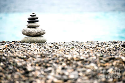 Photograph - Pebble Stone On Beach by Yew Kwang