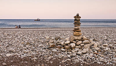 Art Print featuring the photograph Pebble Tower by David Isaacson