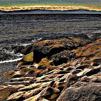 Pebble Worn Rock Art Print
