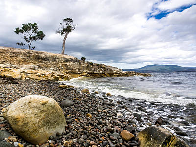 Justin Woodhouse Photograph - Pebbled Beach Under Dramatic Skies Number One by Kaleidoscopik Photography