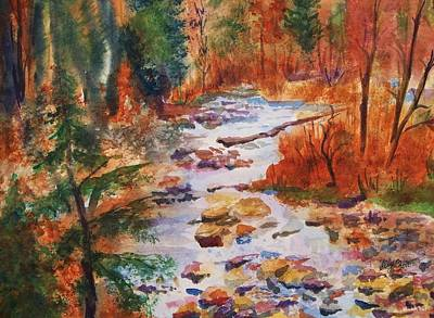 Painting - Pebbled Creek by Ellen Levinson