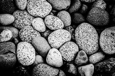 Photograph - Pebbles Along The Shore by Roxy Hurtubise