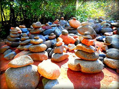 Pebbles And Rocks Art Print by R Dupras