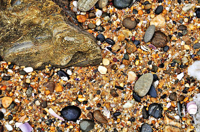 Photograph - Pebbles And Sand by Kaye Menner