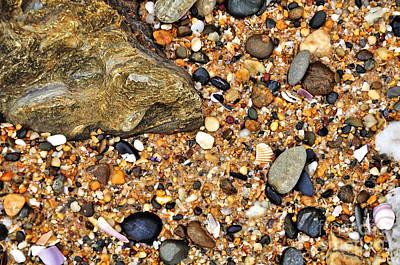 Pebbles And Sand Art Print by Kaye Menner