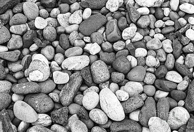 Beach Photograph - Pebbles In Black And White by Les Palenik
