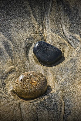 Photograph - Pebbles On The Beach At Torrey Pines State Beach In Southern California No. 1303 by Randall Nyhof