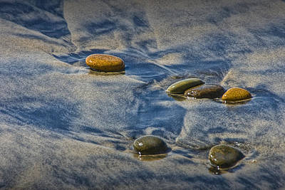 Photograph - Pebbles On The Beach At Torrey Pines State Beach In Southern California No. 1305 by Randall Nyhof