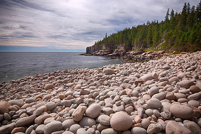Pebbles On The Beach, Cobblestone Art Print by Panoramic Images