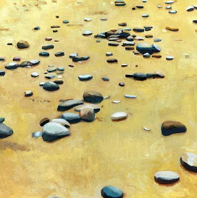 Painting - Pebbles On The Beach - Oil by Michelle Calkins