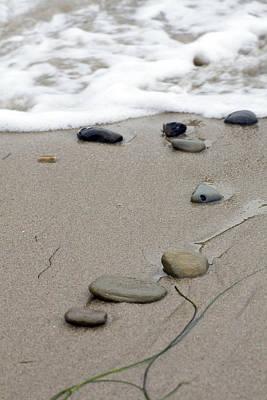 Pebbles On The Beach Art Print by Terry Thomas