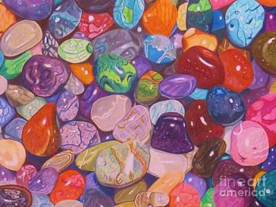 Pebbles Print by Shirley Davies