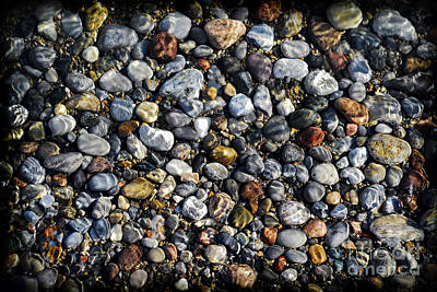 Beach Royalty-Free and Rights-Managed Images - Pebbles under water by Elena Elisseeva