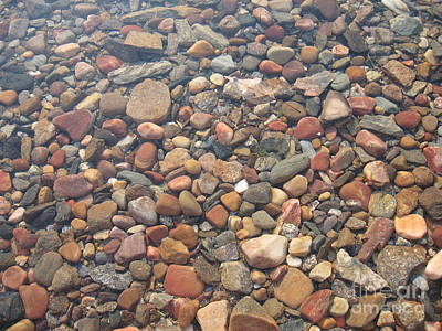 Photograph - Pebbles Under Water by Leone Lund