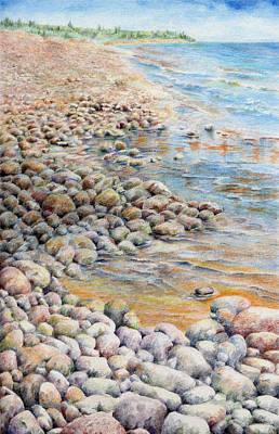 Pebbley Beach Art Print