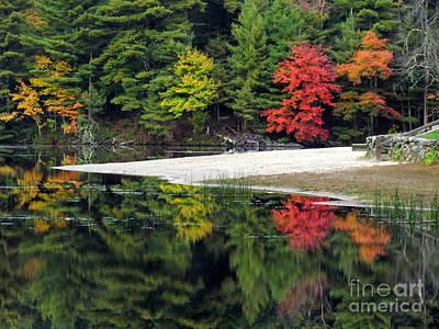 Peck Pond Autumn Reflections Ix Art Print