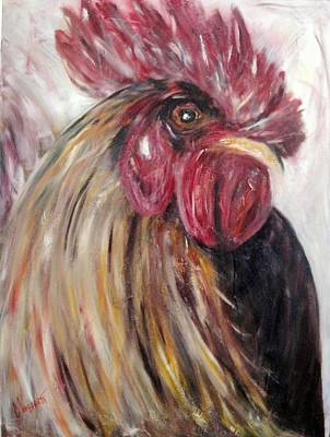 Painting - Pecking Order by Chuck Gebhardt