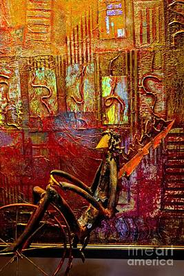 Pedaling On Rodeo Drive Art Print