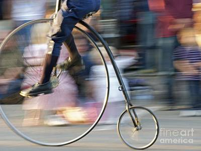 Penny Farthing Photograph - Pedaling Past by Ann Horn