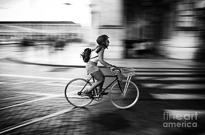 Photograph - Pedalling In Rua Da Prata by Carlos Caetano