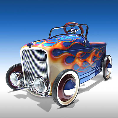 Square Art Digital Art - Peddle Car by Mike McGlothlen