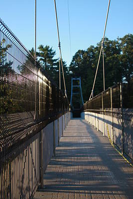 Photograph - Pedestrian Bridge At Cornell by Vadim Levin