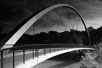 Photograph - Pedestrian Bridge by Miguel Winterpacht
