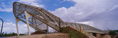 Diamondback Photograph - Pedestrian Bridge Over A River, Snake by Panoramic Images